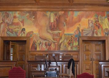 Justiça Bragança - sala de audiências